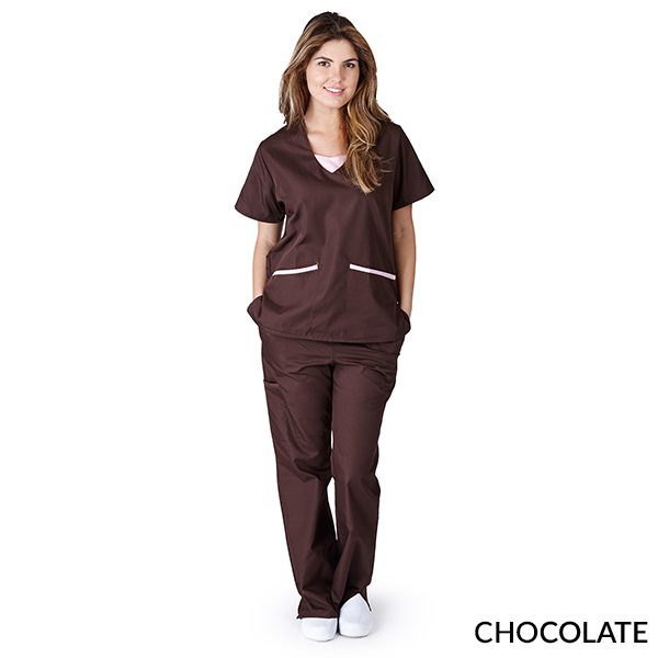 A photo of chocolate contrast jersey sets