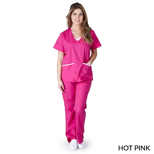 A photo of hot pink contrast jersey sets