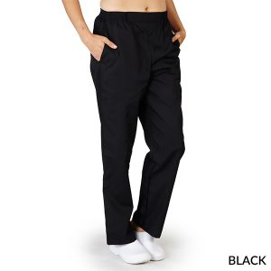 A photo of black elastic boxer pants