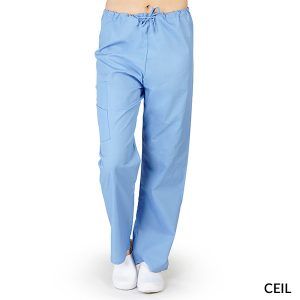 A photo of ceil blue drawstring cargo pants