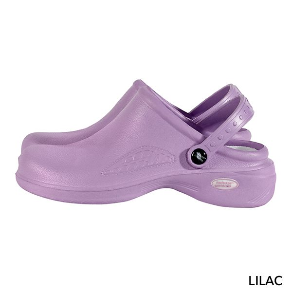 A photo of lilac women's ultralite with strap clogs
