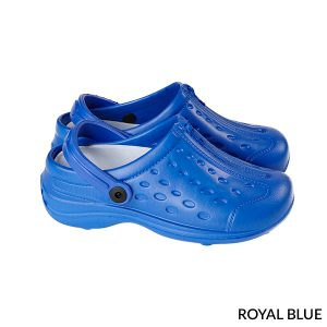 A photo of royal blue unisex ultralite clogs