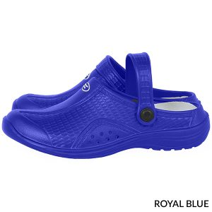 A photo of blue women's ultralite with strap runner clogs