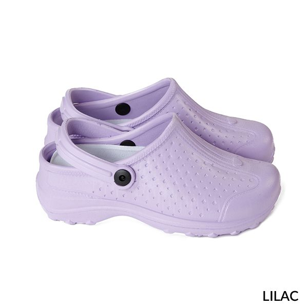 A photo of lilac women's ultralite with strap sports clogs