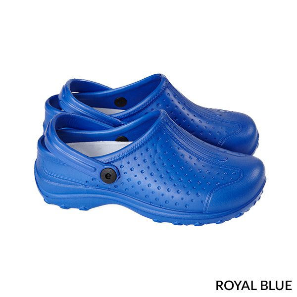 A photo of royal blue women's ultralite with strap sports clogs