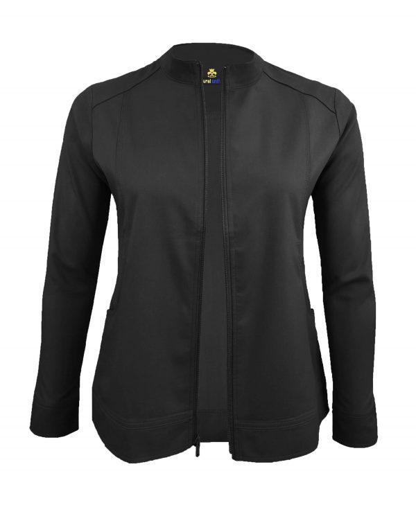 Black Scrub Set Warm Jacket