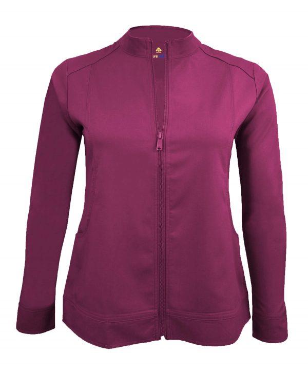 Burgundy Scrub Set Warm Jacket