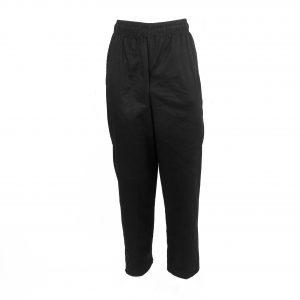 A photo of black unisex classic chef pants