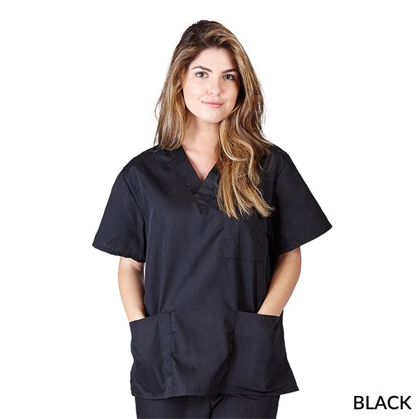 A photo of black unisex 3 pocket tops