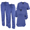 Ceil Blue Medical Scrub Top Two Pocket Two Pieces
