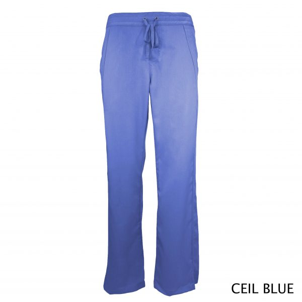 A photo of ciel blue women drawstring scrub pants (front))