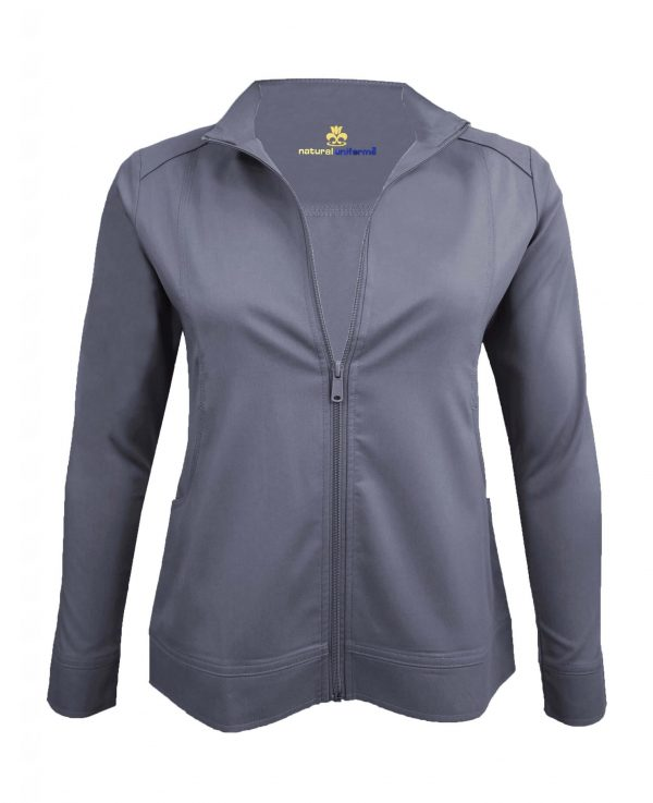 Charcoal Grey Scrub Set Warm Jacket