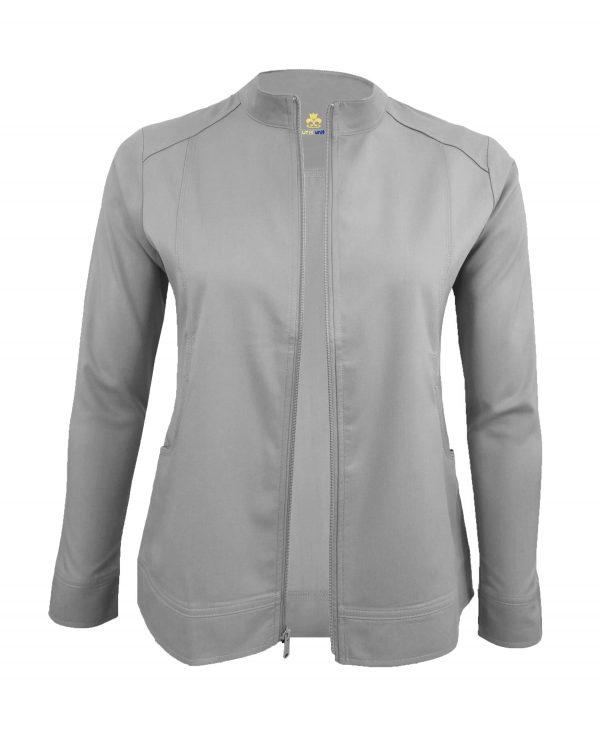 Grey Scrub Set Warm Jacket