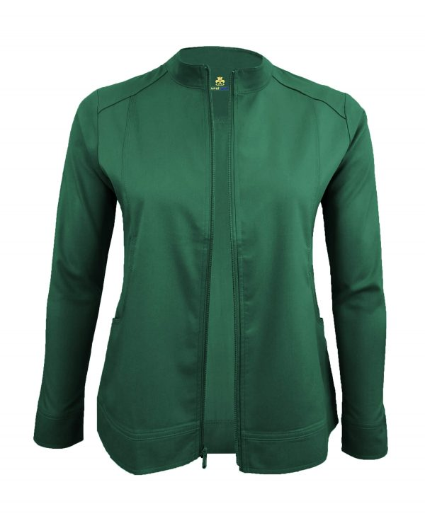 Hunter Green Scrub Set Warm Jacket