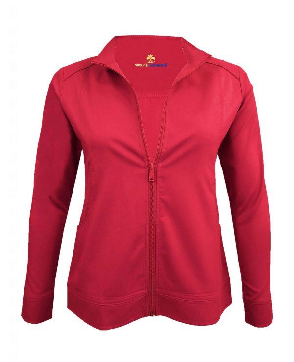 Red Scrub Set Warm Jacket