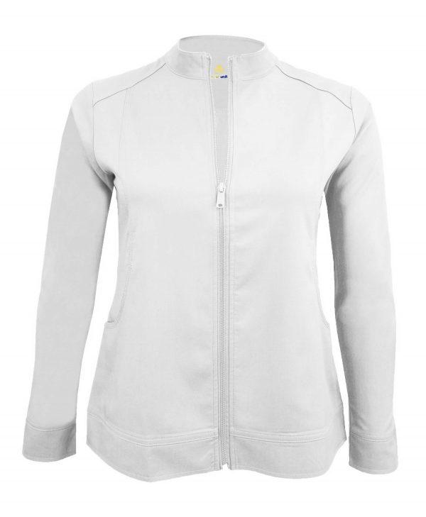 White Scrub Set Warm Jacket