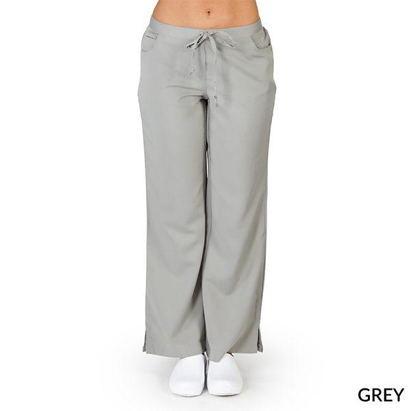 A photo of grey ultra soft 5 pockets fashion scrub pants