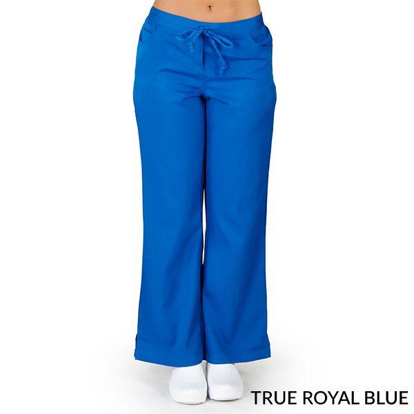 A photo of true royal blue ultra soft 5 pockets fashion scrub pants