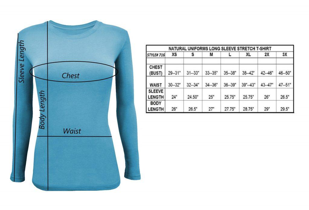 Under Scrub Shirt Chart Size